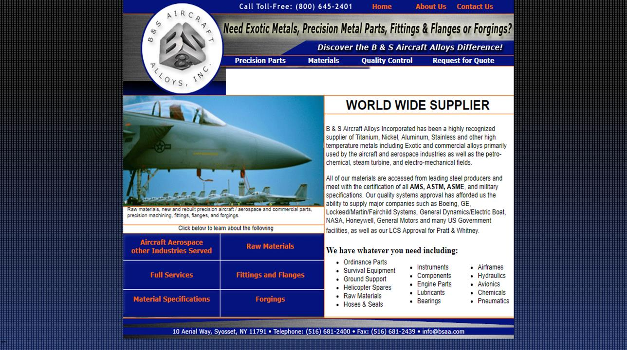 B & S Aircraft Alloys, Inc.