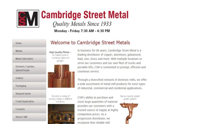 Cambridge Street Metal Corporation (CSM)